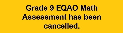EQAO Cancelled banner