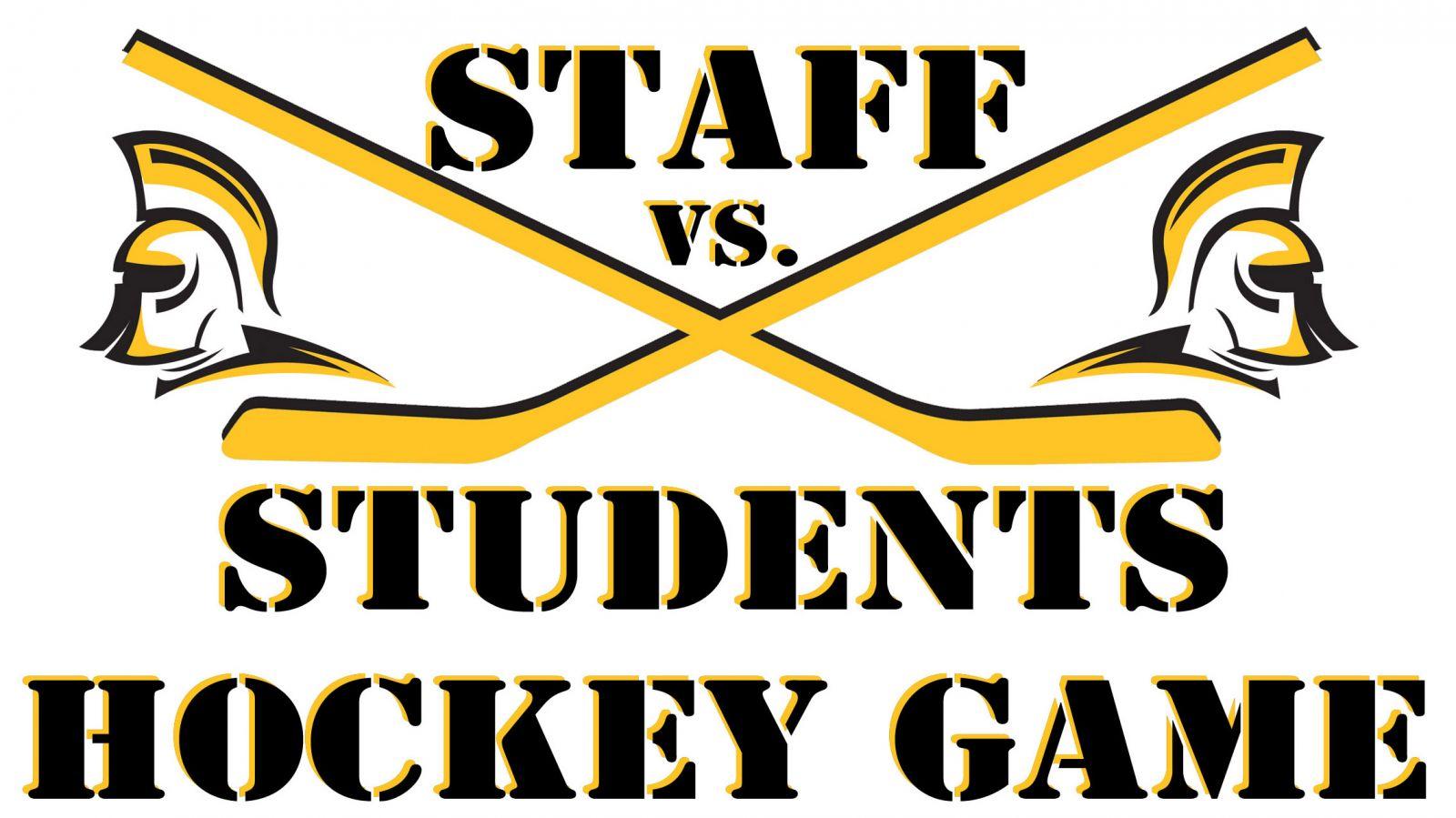 staff vs student hockey game