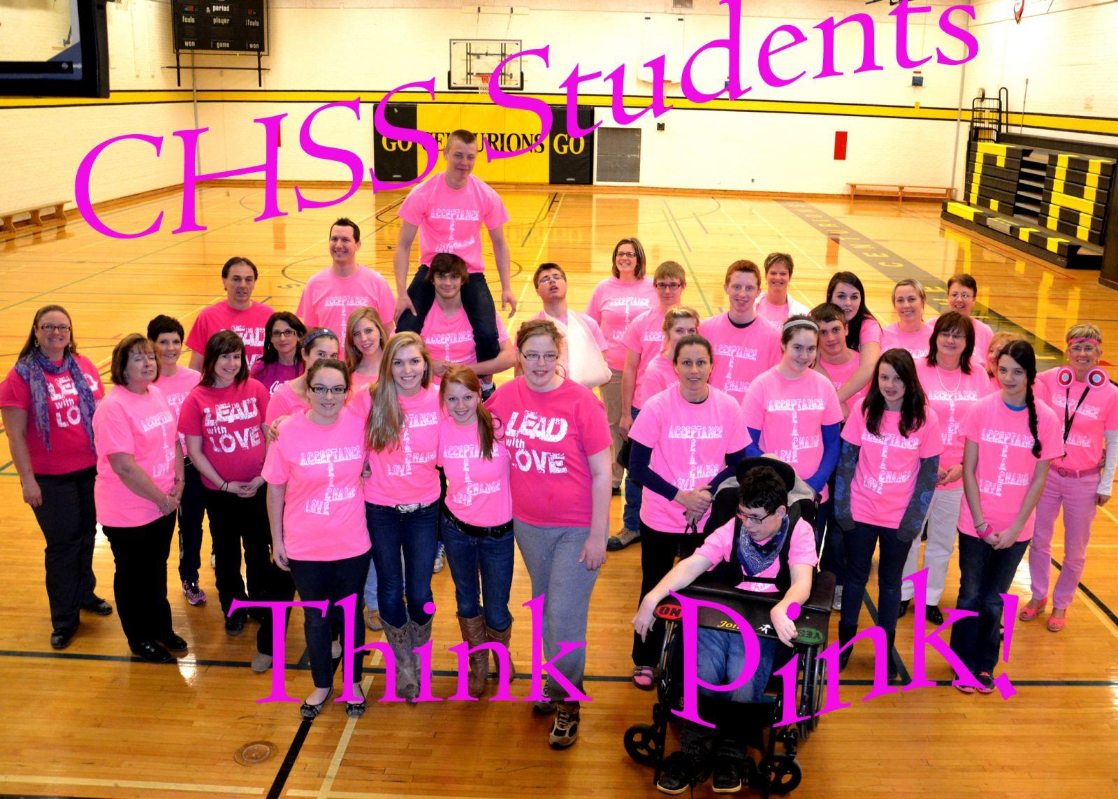 pink shirt day at CHSS