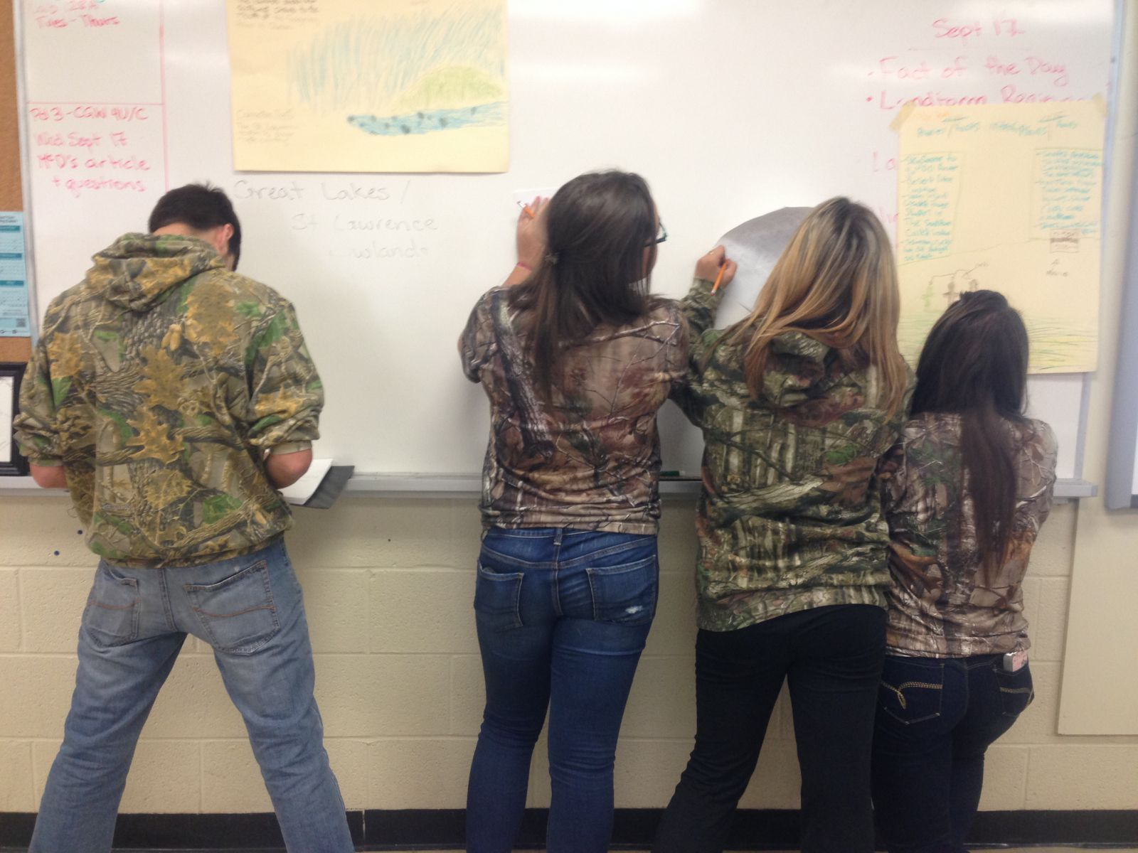 picture of students in camo